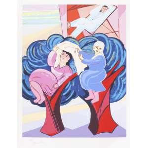 Cícero Dias - Mulheres na Árvore – 110 x 75 cm – Gravura – Ass. CIE - Sem Moldura