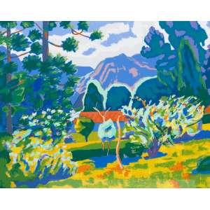 Inimá de Paula - Paisagem – 50 x 70 cm – Gravura – Ass. CID e Dat. 1993 - Sem Moldura