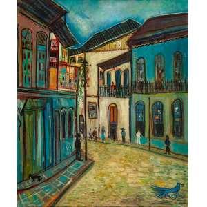 Chanina - Rua de Ouro Preto – 60 x 50 cm – OST – Ass. LE e Dat. 1969