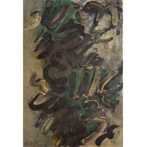 Frans Krajcberg - Sem Título – 41 x 28,5 cm – OST – Ass. CIE – Década de 1960 – Reproduzido no catálogo do leilão da Soraia Cals ocorrido em março de 2018.