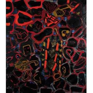 Siron Franco - Girafa – 155 x 135 cm – OST – Ass.Verso e Dat. 1994/1996 – Possui certificado de autenticidade emitido pelo artista