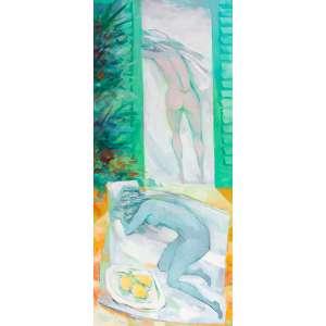 Enrico Bianco - Nu – 140 x 60 cm – OST – Ass. CIE e Dat. 2010 - Reproduzida no catálogo da exposição individual relizada pelo artista, acompanha certificado de autenticidade emitido pelo artista