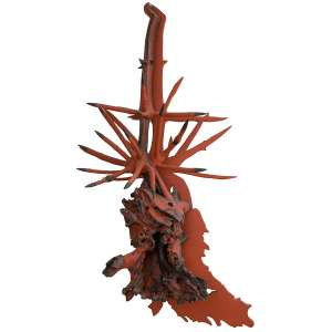 Frans Krajcberg - Raízes – 165 x 80 x 46 cm - Madeira Pintada com Pigmentos Naturais e Queimada a Fogo – Ass. Verso – Circa 2000
