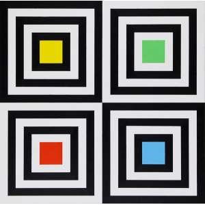 Yves Serpa - Construção – 92 x 92,5 cm – OST – Ass. Verso e Dat. 2008