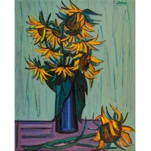Inimá de Paula - Os Girassóis de Van Gogh – 100 x 80 cm – OSM – Ass. CSD – Década de 1960