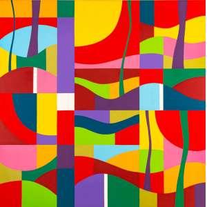 J. B. Lazzarini - Sem Tìtulo – 180 x 180 cm – AST – Ass.Verso e Dat. 2012