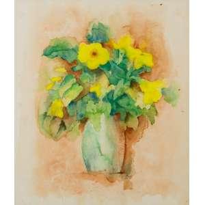 Eny Bretz - Vaso de Flores – 36 x 31 cm - Aquarela – Ass. PI e Dat. 1987