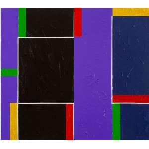 Eduardo Sued - Composição - 80 x 90 cm - Óleo Sobre Tela - Ass. Verso e Dat. 2019 - Apresenta certificado de autenticidade emitido pelo artista
