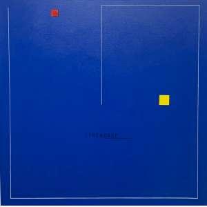 Almandrade - O Limite da Liberdade é o Azul do Céu - 80 x 80 cm - Acrílica sobre Tela - Ass. Verso e Dat. 2013 - Possui Certificado de Autenticidade emitido pelo Artista