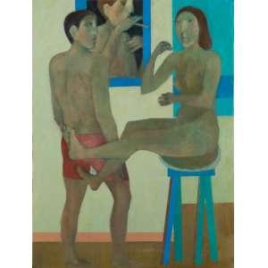 João Quaglia - Conquista - 80 x 60 cm – Óleo sobre Tela – Ass. PI e Dat. de 2010 - Esta obra está Reproduzida no Catálogo da última Exposição Individual realizada pelo Artista