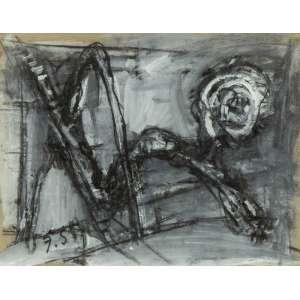 Flávio Shiró - Abstração - 26 x 33 cm - Técnica Mista - Ass. CIE - Década de 1980