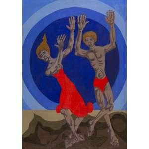 Clóvis Graciano - Casal Dançando - 92 x 65 cm - Óleo Sobre Tela - Ass. CID e Dat. 1979 - Apresenta certificado de autenticidade emitido pelo Projeto Clóvis Graciano<br /><br />Clóvis Graciano (Araras, SP, 1907 - São Paulo, SP, 1988). Reside em São Paulo a partir de 1934. Realiza estudos com o pintor Waldemar da Costa (1904-1982), entre 1935 e 1937. Em 1937, integra o Grupo Santa Helena, com Francisco Rebolo (1902 - 1980), Mario Zanini (1907-1971), Alfredo Volpi (1896 – 1988) e Bonadei (1906-1974). Freqüenta como aluno ouvinte o curso de desenho da Escola Paulista de Belas Artes, até 1938. Membro da Família Artística Paulista - FAP, em 1939 é eleito presidente do grupo. Participa regularmente dos Salões do Sindicato dos Artistas Plásticos e, em 1941, realiza sua primeira individual. Em 1948, é sócio-fundador do Museu de Arte Moderna de São Paulo (MAM/SP). Viaja para a Europa em 1949, com o prêmio recebido no Salão Nacional de Belas Artes. Permanece dois anos em Paris, onde estuda pintura mural e gravura. A partir dos anos 1950, dedica-se principalmente à pintura mural. Faz ilustrações de obras literárias, como o livro Cancioneiro da Bahia, de Dorival Caymmi (1914-2008), publicado pela editora Martins, em 1947, e o romance Terras do Sem Fim, de Jorge Amado (1912-2001), pela editora Record, em 1987. Em 1971, assume o cargo de diretor da Pinacoteca do Estado de São Paulo (_Pina). De 1976 a 1978, exerce a função de adido cultural em Paris. Ao longo de sua carreira permanece fiel ao figurativismo, com o predomínio de temas sociais.<br /><br />Biografia parcial extraída da Enciclopédia Itaú Cultural