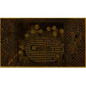 Vicente Sgreccia - A Última Ceia - 41 x 70,5 cm – Xilogravura 2/30 – Ass. CID - Ganhadora do prêmio: isenção do júri do Salão de Arte Moderna do Rio de Janeiro em 1970 e participaram da 3º Bienal de Gravuras de Cracóvia, Polônia.