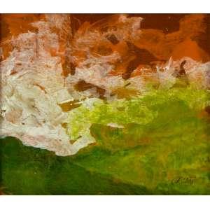 Orlando Castaño - Abstração – 26 x 30 cm – Óleo sobre Madeira – Ass. CID