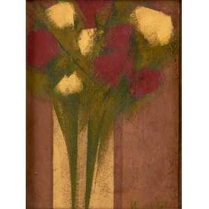 Olimpia Couto - Vaso de Flores – 37 x 27 cm – Acrílica sobre Tela – Ass. CID – Coleção Yara Tupynambá
