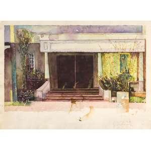 Sérgio Nunes - Paisagem – 28 x 39 cm – Aquarela – Ass. CID e Dat. 1985