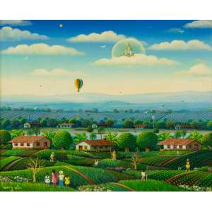 Henry Vitor - Feriado – 40 x 50 cm – Óleo sobre Tela – Ass. CIE e Dat. 1996