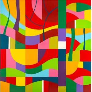 J. B. Lazzarini - Sem Tìtulo – 180 x 180 cm – Acrílica sobre Tela – Ass.Verso e Dat. 2012