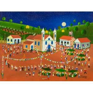 Lindorico - Festa Junina – 30 x 40 cm – Óleo sobre Tela – Ass. CID e Dat. 2011