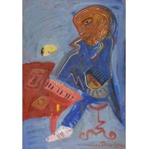 Fernando Pacheco - Concerto Russo – 105 x 73 cm – Óleo sobre Tela – Ass. CID e Dat. 1988