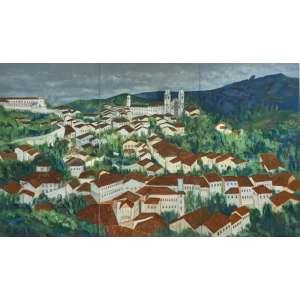 Marina Nazareth - Ouro Preto – 90 x 150 cm – Acrílica sobre Tela – Ass. CID e Dat. 2006