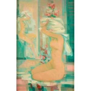 Enrico Bianco - Nus – 70 x 45 cm – Óleo sobre Eucatex – Ass. CID e Dat. 1990