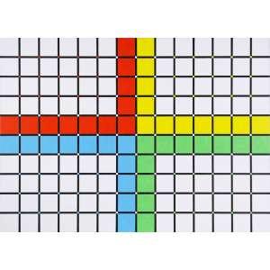 Yves Serpa - Composição – 102 x 142 cm – Óleo sobre Tela – Ass. Verso e Dat. 2008