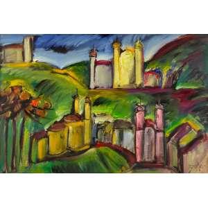 Carlos Bracher - Ouro Preto – 80 x 120 cm – Óleo sobre Tela – Ass. CID e Dat. 2019