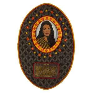 Jorge Fonseca - Idalina – 113 x 76 x 5 cm – Acrílica, Tecidos e Bordado – Ass. Verso e Dat. 2011