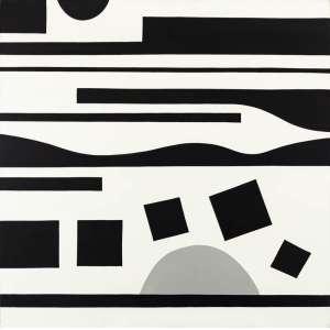 J. B. Lazzarini - Sem Título – 120 x 120 cm – Acrílica sobre Tela – Ass. Verso e Dat. 2012