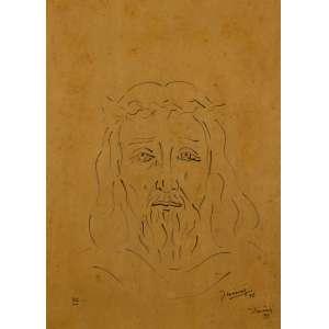 Inimá de Paula - Cristo - 57 x 40,5 cm - Nanquim - Ass. CID e Dat. 1972 - Reassinado em 1998