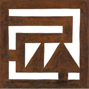 Jorge dos Anjos - Objeto de Parede – 38 x 38 cm - Aço – Ass. Verso e Dat. 2004