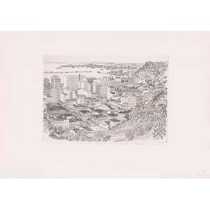 Geza Heller - Salvador/BA – Cidade Baixa – 36 x 50 cm – Gravura em metal Tiragem 60 – Ass. CID e Dat. 1967