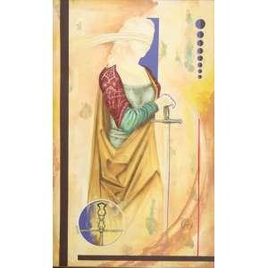 Afonso Teixeira - Justiça – 130 x 80 cm – Óleo sobre Tela – Ass. CID e Dat. 2005