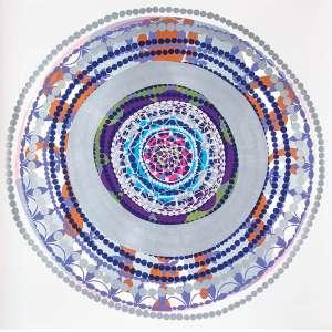 Beatriz Milhazes - Entre o Mar e a Montanha - screenprints sobrepostos com textura em relevo s/ cartão - 76 x 76 cm - ass. verso - dat 1997/98. 6/24.