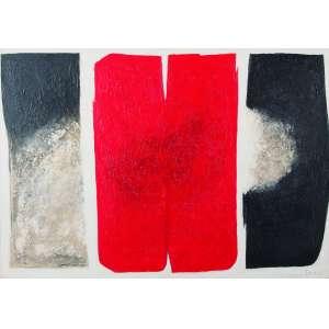 Tomie Ohtake - Sem Titulo - Óleo s/ tela - 70 x 100 cm - ass. inferior direito e verso - dat. 1967. Registrada no Instituto Tomie Ohtake