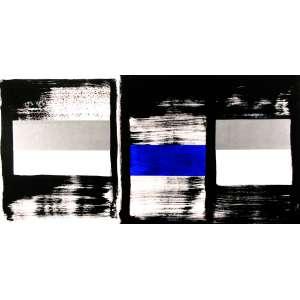 Amilcar de Castro - Sem Titulo - Acrílica s/ tela - 100 x 200 cm - ass. verso - Registrado no Instituto Amilcar de Castro