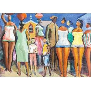 Carybé, Hector - Sem Titulo - Óleo s/ tela - 50 x 70 cm - ass. inferior direito - dat 1983