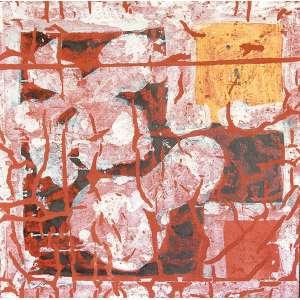 Antonio Dias - Dimiss - Óleo s/ tela - 120 x 120 cm - ass. verso - déc. 80