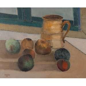 Pancetti, José - Frutas, Campos do Jordão - Óleo s/ tela - 38 x 46 cm - inferior esquerdo e verso - dat. 1943. No verso coleção M. Ramos