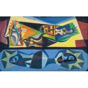 Di Cavalcanti, Emiliano - Sem Título - Óleo s/ tela - 38 x 61 cm - ass. inferior direito e verso - dat. 1959