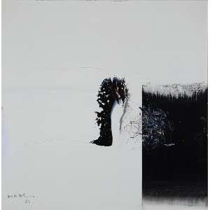 Mabe, Manabu - Sem Título - Óleo s/ tela - 51 x 51 cm - ass. inferior esquerdo e verso - dat. 1984. Registrado no Instituto Manabu Mabe