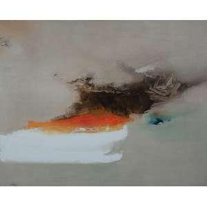 Mabe, Manabu - Sem Título - Óleo s/ tela - 130 x 160 cm - ass. inferior esquerdo - dat. 1960. Registrado no Instituto Manabu Mabe