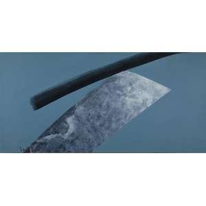 Tomie Ohtake - Sem Título - Óleo s/ tela - 70 x 140 cm - ass. inferior esquerdo e verso - dat. 1986. Registrado no Instituto Tomie Ohtake