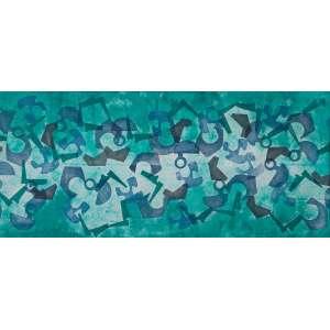 Burle Marx, Roberto - Panneau - Tinta gráfica e acrílica s/tecido - 95 x 210 cm - ass. inferior direito e esquerdo - dat. 1981