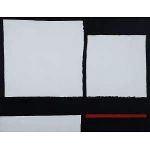 Amilcar de Castro - Sem Título - Acrílica s/ tela - 100 x 130 cm - ass. verso - dat. 1995. Registrado no Instituto Amilcar de Castro