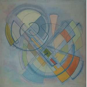 Leopoldo Raimo - Sem Título - Óleo s/ tela - 90 x 90 cm - ass. inferior direito - dat. 1957
