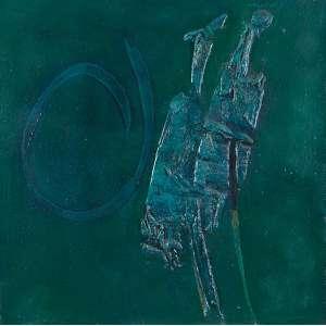 Wakabayashi, Kazuo - Sem Título - Óleo s/ tela - 95 x 95 cm - ass. superior direito - dat. 1970