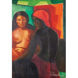 Di Cavalcanti, Emiliano - Sem Título - Óleo s/ tela - 92 x 65 cm - ass. inferior direito - dat. 1972