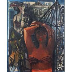 Di Cavalcanti, Emiliano - Circo na Rua - Óleo s/ tela - 81 x 65 cm - ass. inferior direito - dat. 1960. Reproduzido no catálogo da retrospectiva do artista realizada pelo Museu de Arte da Pampulha MAP - BH e Museu de Arte Contemporânea MAC - USP – São Paulo, maio de 1977. Acompanha catálogo do MAP